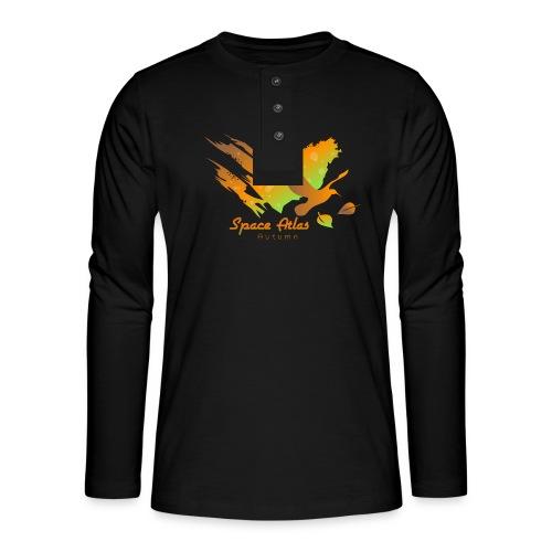 Space Atlas Longshirt Tee Autumn Leaves - Henley T-shirt med lange ærmer