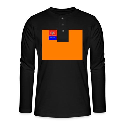 logo - Henley shirt met lange mouwen