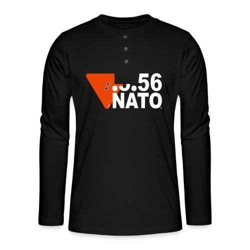 .5.56 NATO BLANC - T-shirt manches longues Henley