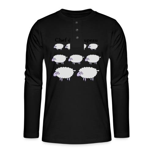 chef-de-troupeau - T-shirt manches longues Henley