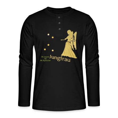 Sternzeichen Jungfrau - Henley Langarmshirt