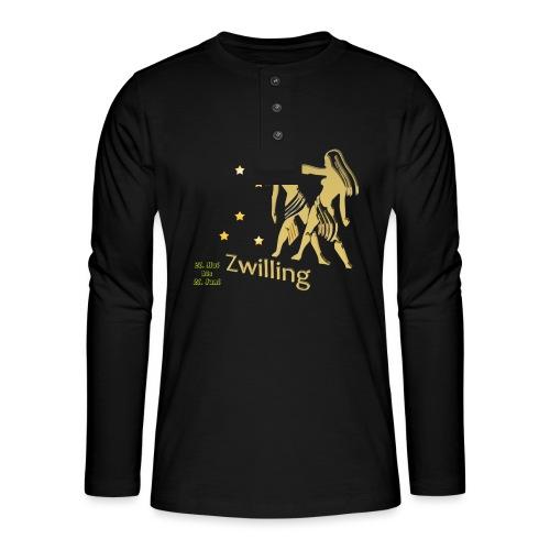 Sternzeichen Zwillinge - Henley Langarmshirt