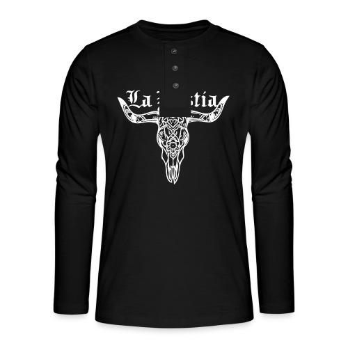 LaBestiaWhite png - Henley shirt met lange mouwen
