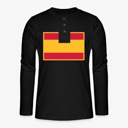 Banderola española - Camiseta panadera de manga larga Henley