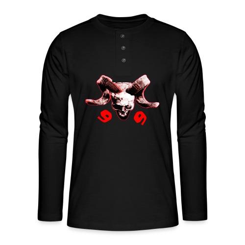 skull 666 - Henley Langarmshirt