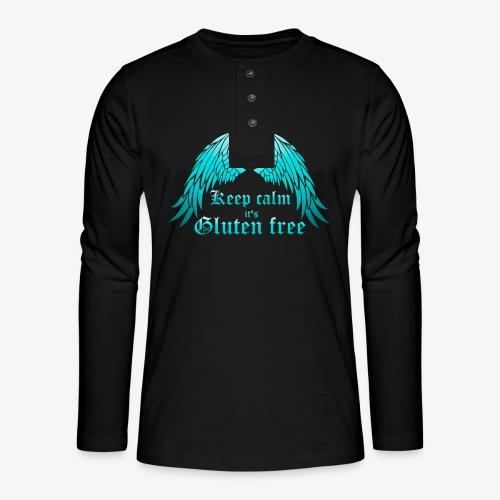 Keep calm it's Gluten free - Henley long-sleeved shirt