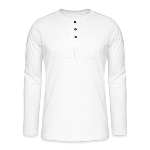 pikkuskyline_white - Henley pitkähihainen paita