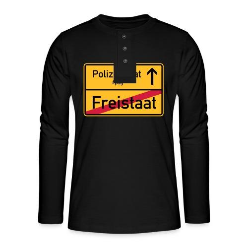 Freistaat Bayern Polizeistaat - Henley Langarmshirt