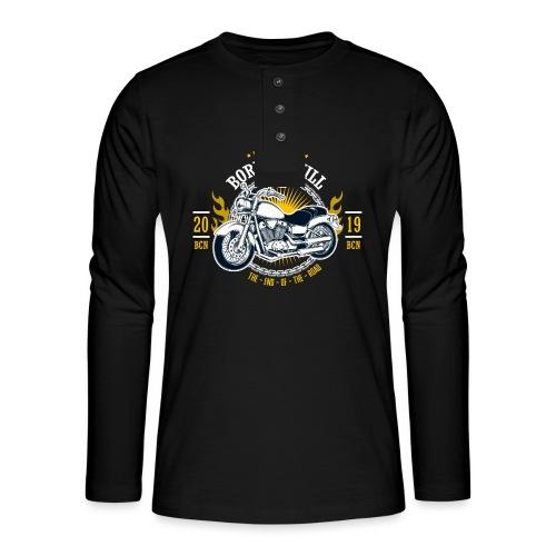 Motorcycle1 - Camiseta panadera de manga larga Henley