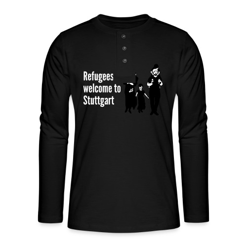 Refugees welcome - Henley Langarmshirt