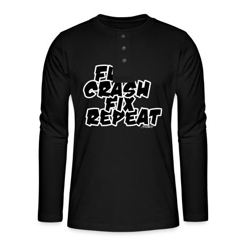 FlyCrashFixRepeat signed - Henley long-sleeved shirt