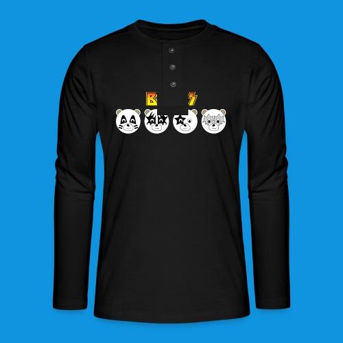 Kiss Bears.png - Henley long-sleeved shirt
