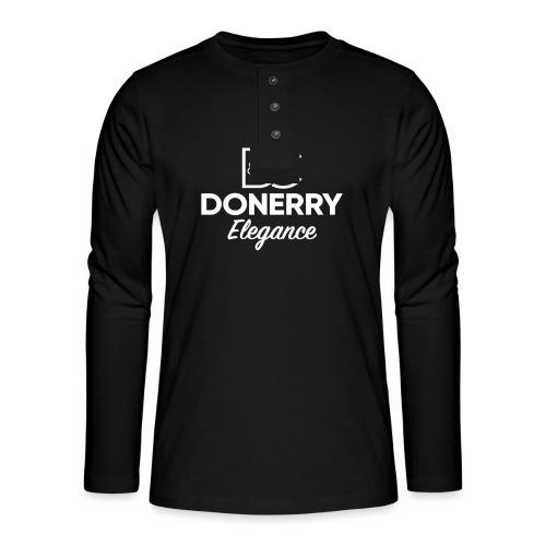 Donerry Elegance NEW White on Dark - Henley long-sleeved shirt
