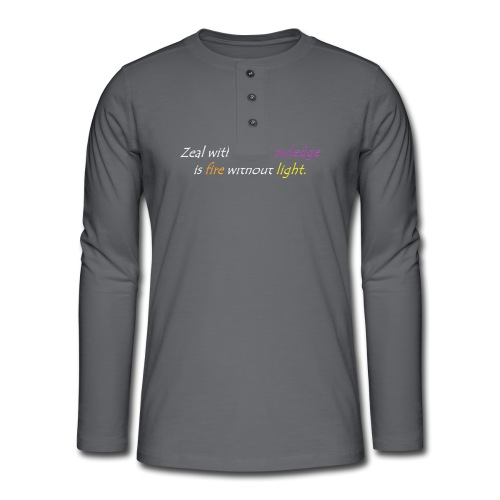 Say with colors - Henley long-sleeved shirt