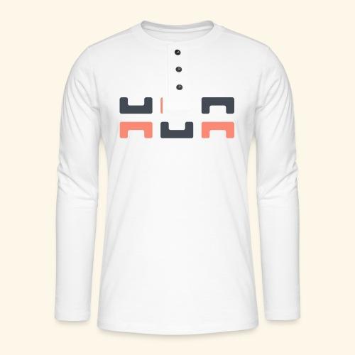 Angry elephant - Henley long-sleeved shirt