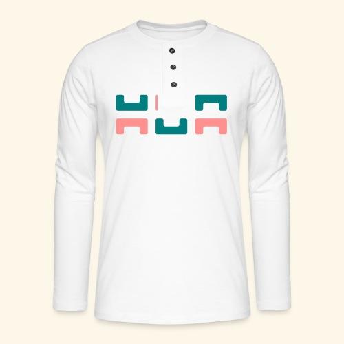 Hoa original logo v2 - Henley long-sleeved shirt