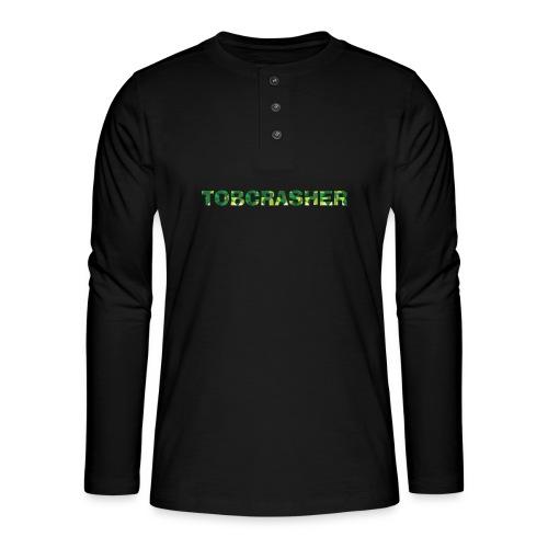 Tshirt Green triangles big - Henley Langarmshirt
