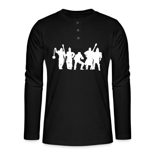 Jugger Schattenspieler weiss - Henley Langarmshirt