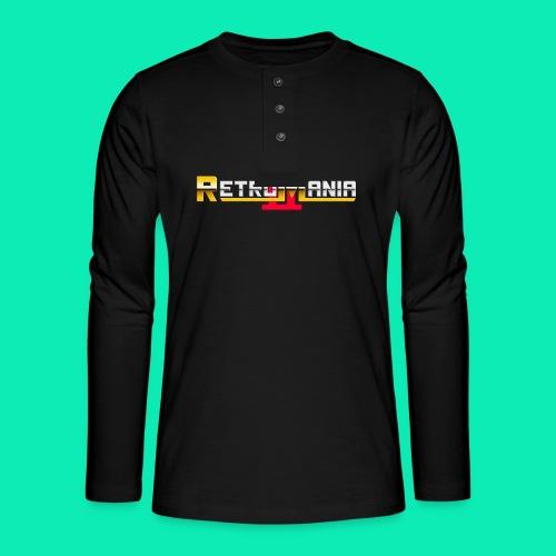 Retro Mania II - Logo - Henley Langarmshirt