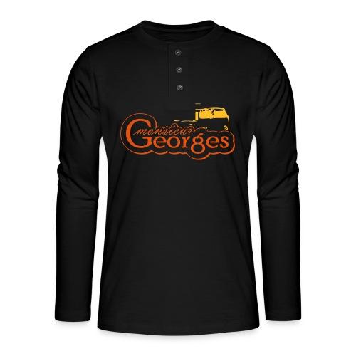 monsieur georges2 - Henley shirt met lange mouwen
