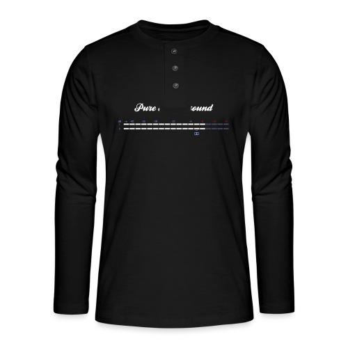 digital VU meters - Henley long-sleeved shirt