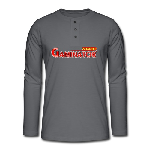 Gaminator logo - Henley long-sleeved shirt