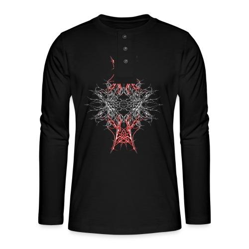 rotes metall - Henley Langarmshirt