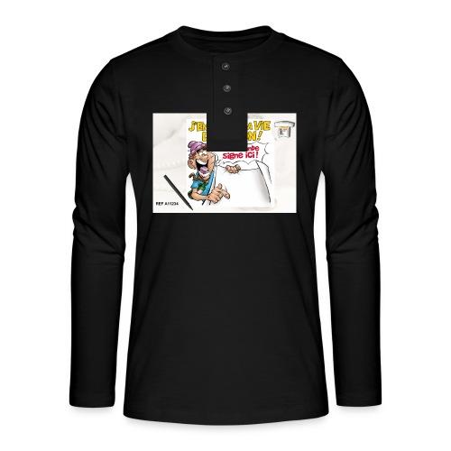 A11234 - T-shirt manches longues Henley