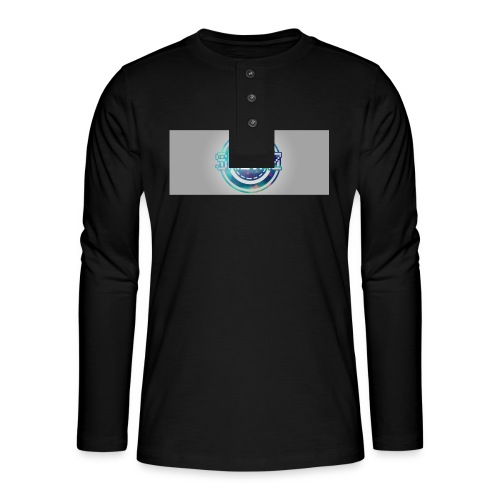 LOGO WITH BACKGROUND - Henley long-sleeved shirt