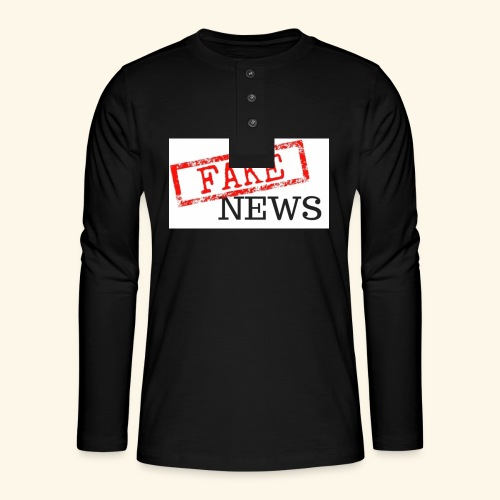 fake news - Henley long-sleeved shirt