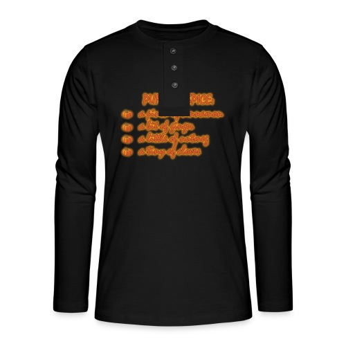 PumpkinSpiceRecipe - Maglia a manica lunga Henley