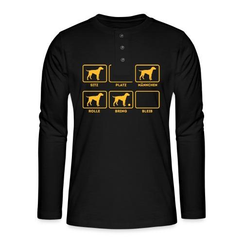 Für alle Hundebesitzer mit Humor - Henley Langarmshirt