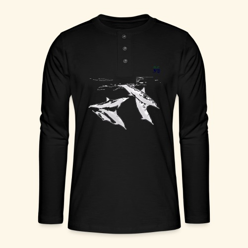 5 Gray dolphins - Henley long-sleeved shirt