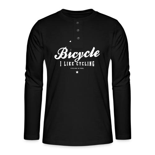 bicycle - Koszulka henley z długim rękawem