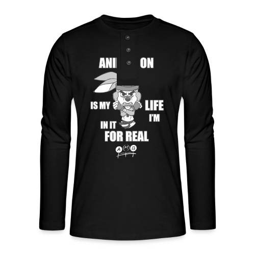 AMB Animation - In It For REAL - Henley long-sleeved shirt