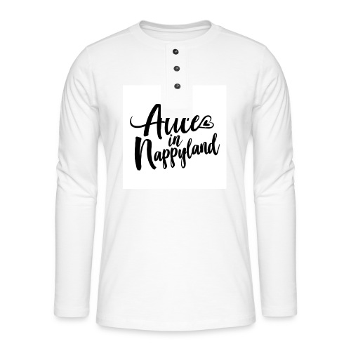Alice in Nappyland Typography Black 1080 1 - Henley long-sleeved shirt