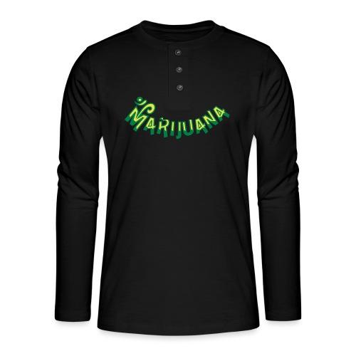 Om Marijuana - Henley long-sleeved shirt