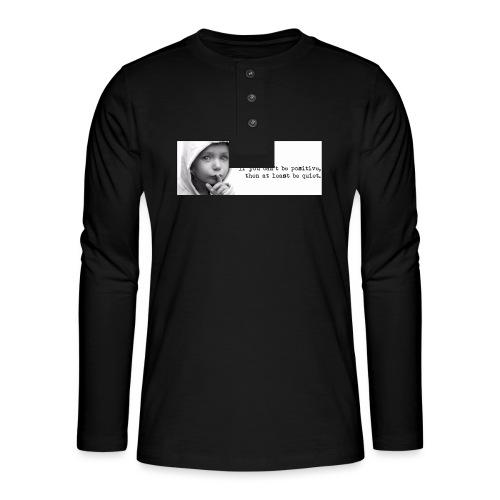 quiet - Henley shirt met lange mouwen