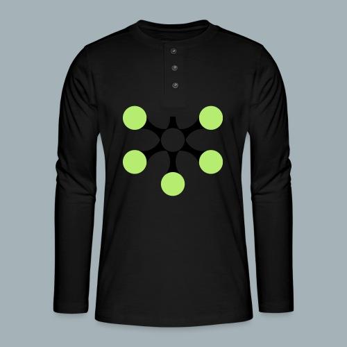 Star Bio T-shirt - Henley shirt met lange mouwen