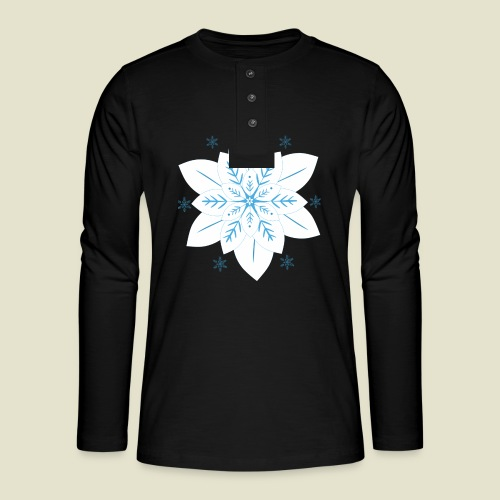 Snowflake - Henley Langarmshirt