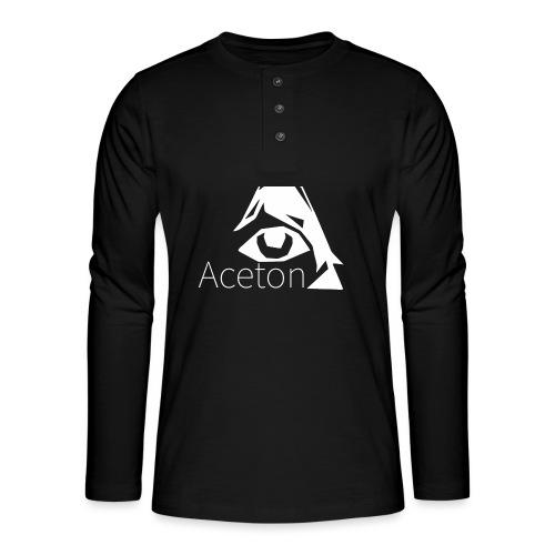 Aceton white png - Henley Langarmshirt