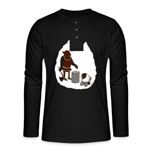 Kopf hoch - Henley Langarmshirt