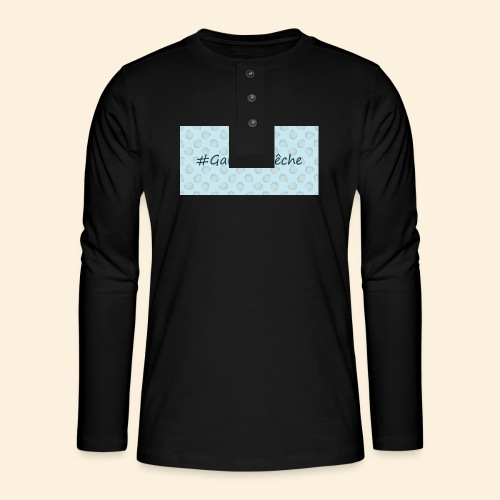 HashtagGardeLaPeche - T-shirt manches longues Henley