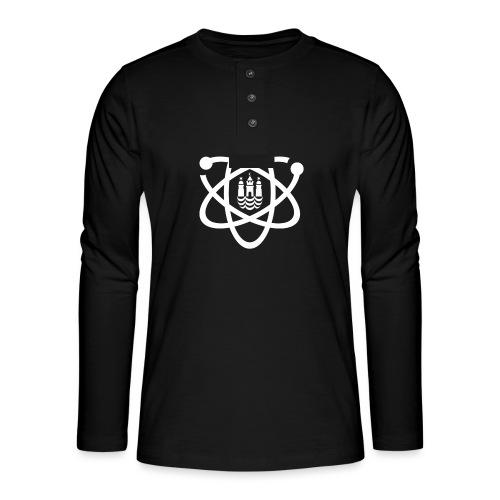 March for Science København logo - Henley long-sleeved shirt