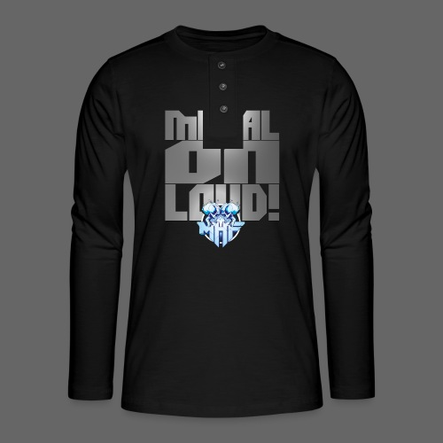 metalonloud large 4k png - Henley long-sleeved shirt