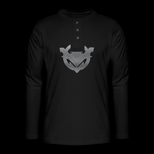 SVN Arts logo - Henley shirt met lange mouwen