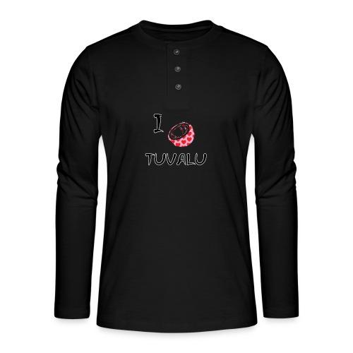 I Love Tuvalu - Henley long-sleeved shirt