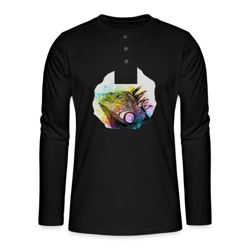 Leguan Aquarell - Henley Langarmshirt