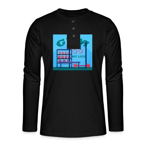 GYM - Henley pitkähihainen paita