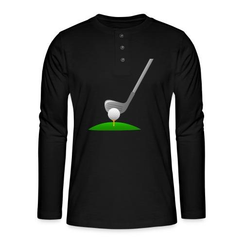 Golf Ball PNG - Camiseta panadera de manga larga Henley